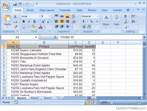 how to create vlookup table in excel 2007