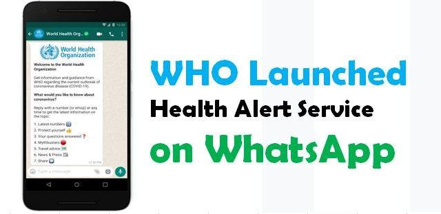 WHO Health Alert