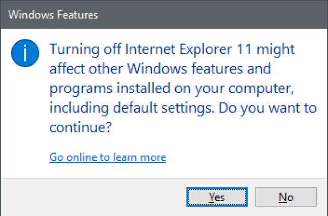 Image : How to Disable Interent Explorer In Windows