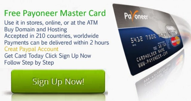 Apply Payoneer Prepaid Master Debit Card and Earn 25$