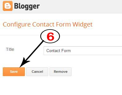 How To Add Contact Form in Sidebar in Blogger Blogs