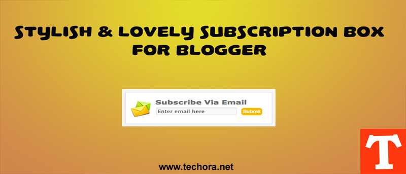 A beautiful email subscription box for blogger blogspot blogs