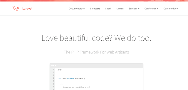 laravel best php framework for web development