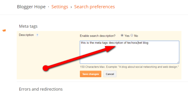 How To Add SEO Meta Description To Your Blogger Blog
