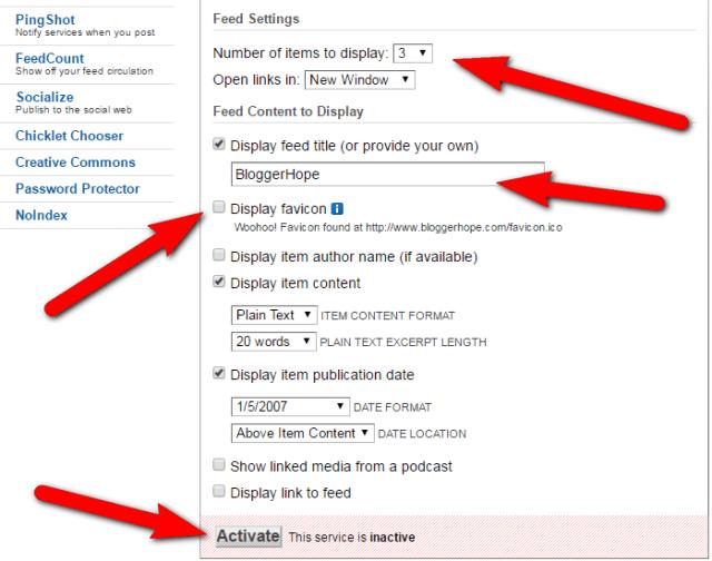 Buzzboost feedburner recent posts widget