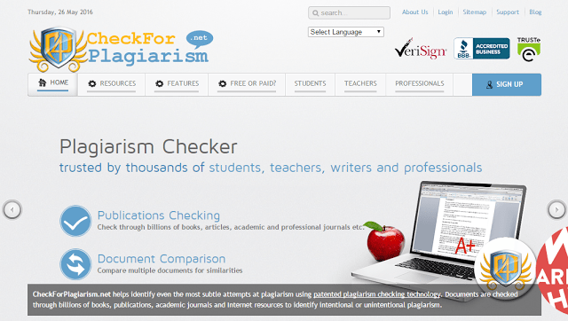 Check for plagiarism free online tools