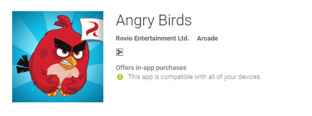 Angry Birds the cool android app for android user