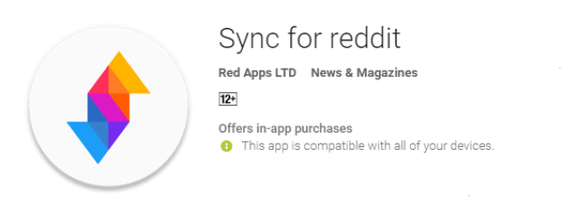 Sync For Reddit the cool android app for android user