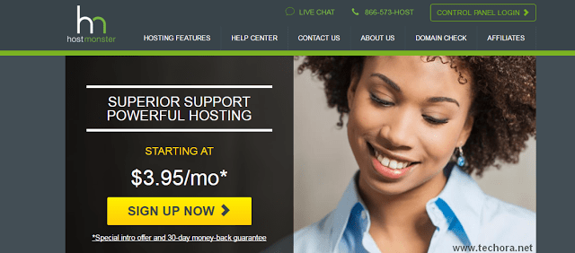 image of hostmonster best web hosting in the world