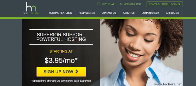 image of hostmonster best web hosting in the world