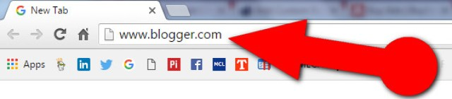 image about www.blogger.com url in browser