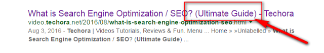 image : On page SEO factors to use modifiers inside post title
