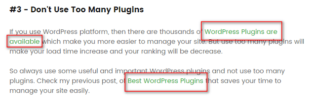 image : On page SEO to use internal links inside your blog posts