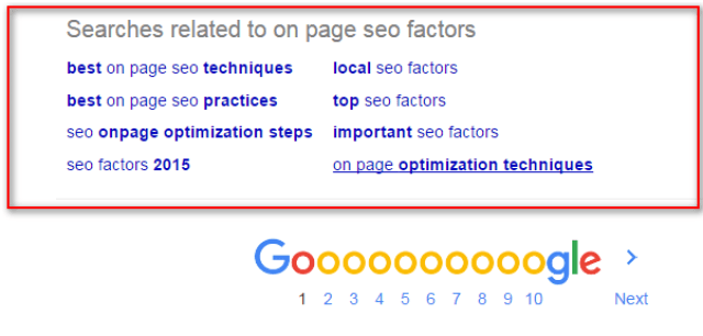 image : On page SEO to use LSI Keywords withing blog posts