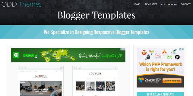 Oddthemes the best website to download free blogger templates