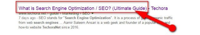 image about on-page seo optimized post title for high ranking in google