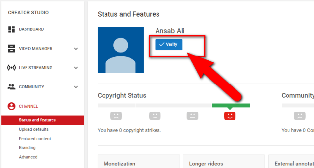 picture: How to Verify Your YouTube Account / Channel