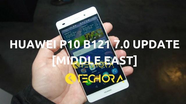 Download Huawei P10 B121 Nougat Firmware Update [Beta] [Middle East]