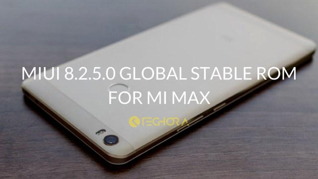 Download MIUI 8.2.5.0 Global Stable ROM for Mi Max