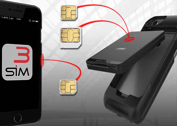 E-Clips: Triple Dual SIM Adapter Case for iPhone & Android Smartphones