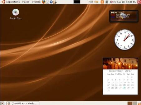 Ubuntu desktop with desklets - Prévia do Chrome OS deve ser apresentada ainda hoje.