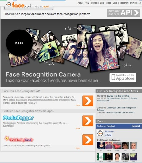 Face Home Page