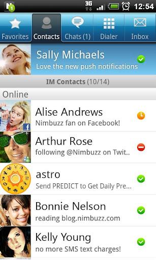 Friends List on Nimbuzz