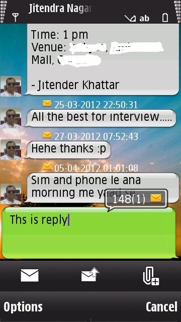 iSMS Chat Bubbles
