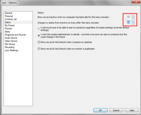 Always Appear Active On Microsoft Lync -