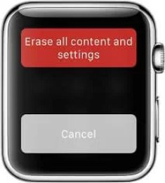 Erase All Contents and Settings - Apple Watch