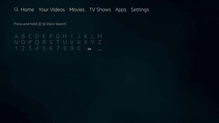 Firestick search icon