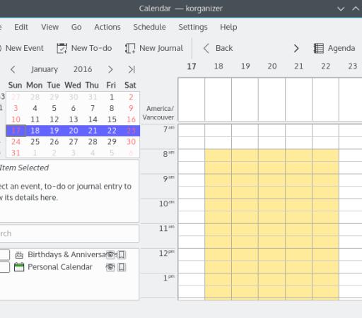 KOrganizer - Best Calendar Apps for Linux