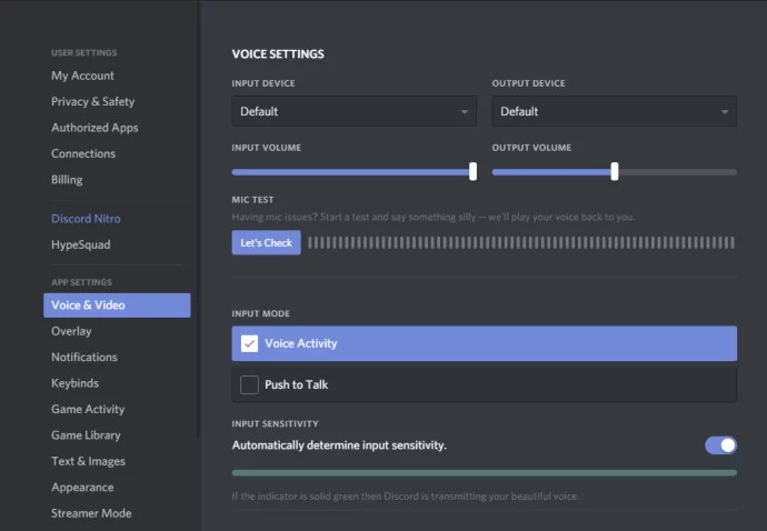 Select Voice and Video - How To Screen Share on Discord?