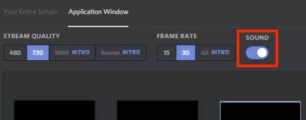 Toggle On Sound icon -  How To Screen Share on Discord?