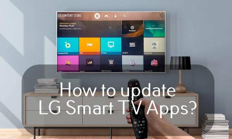 Update apps on LG Smart TV