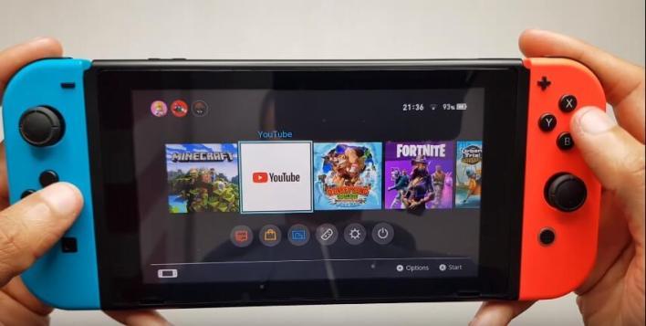 YouTube on Nintendo Switch