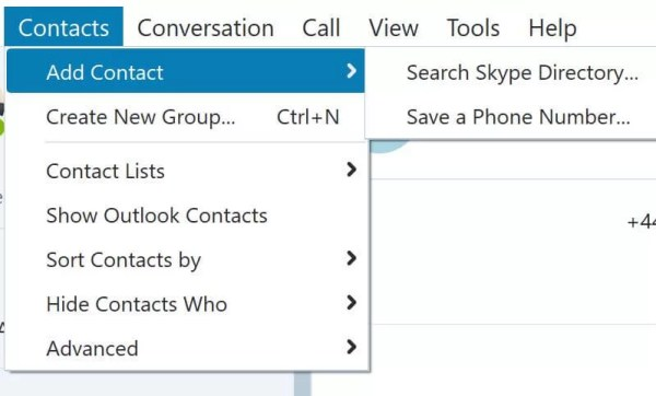 Choose Search Skype Directory