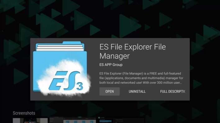 Install Es File Explorer on Mi Box