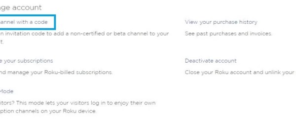 Select Add Channel with a Code