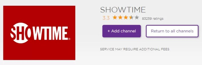 Install Showtime on Roku