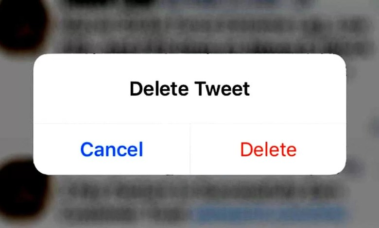 how to delete a tweet