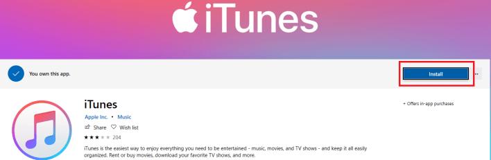 Install iTunes on Windows