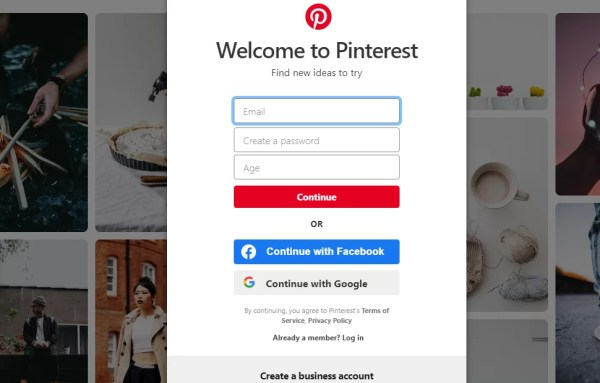 Create Pinterest Personal Account