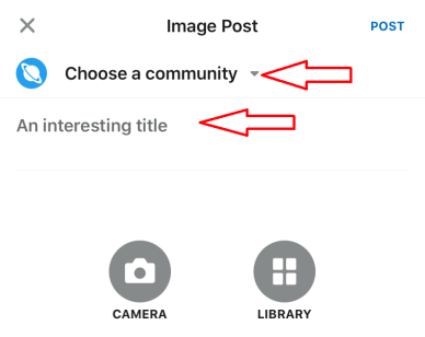 Choose community and title