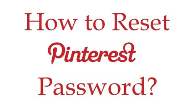 Reset Pinterest Password