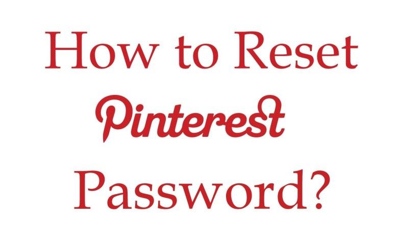 Reset Pinterest Password