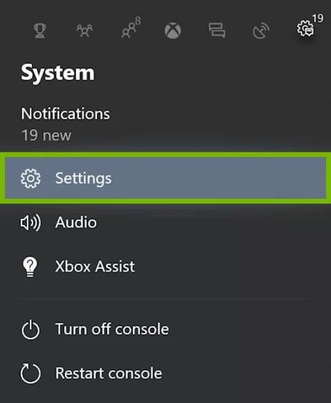 Select System settings
