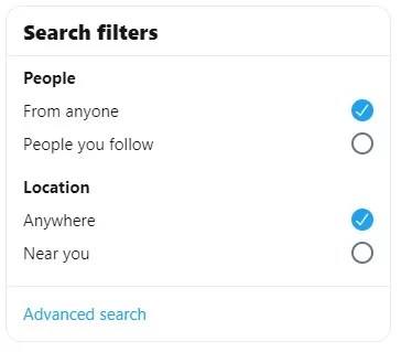 Advanced Search on Twitter
