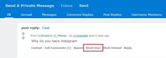 Block Someone on Reddit