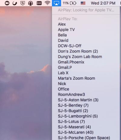 Zoom app on Apple TV